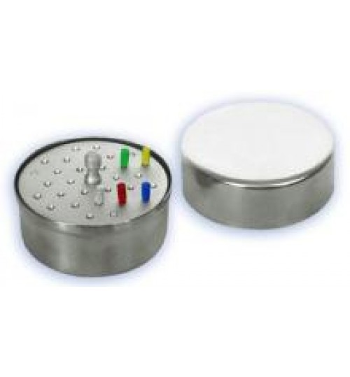 Лоток стоматологический с крышкой и укладкой для боров ЛСКБ-76х35