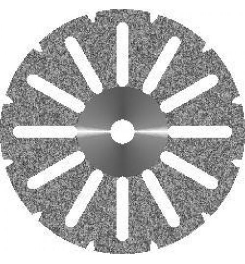 Диск алмазный  d 16 с  крупнозернистым покрытием - АКРИЛ 12 ПРОРЕЗЕЙ