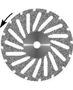 Диск алмазный  d 16 с  крупнозернистым покрытием - КОСОЙ АКРИЛ
