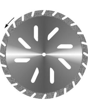 Диски алмазные зуботехнические большого диаметра с крупнозернистым покрытием - ГИПС КОСАЯ ПРОРЕЗЬ d 45