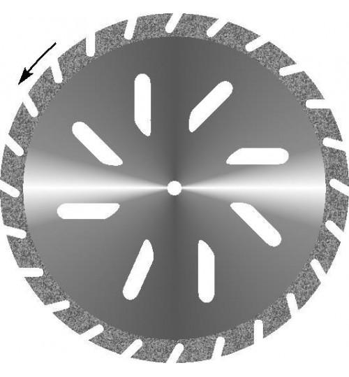 Диски алмазные зуботехнические большого диаметра с мелкозернистым покрытием - ГИПС КОСАЯ ПРОРЕЗЬ d 45
