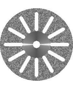 Диски алмазные зуботехнические с крупнозернистым покрытием - 12 ПРОРЕЗЕЙ d 16