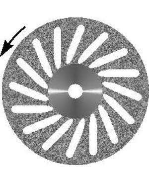 Диск алмазный  d 16 с  крупнозернистым покрытием -  КОСАЯ ПРОРЕЗЬ