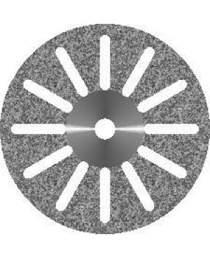 Диски алмазные зуботехнические с мелкозернистым покрытием - 12 ПРОРЕЗЕЙ D 19