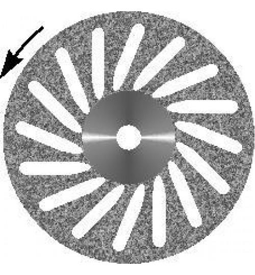 Диск алмазный  d 16 с мелкозернистым покрытием  -КОСАЯ ПРОРЕЗЬ
