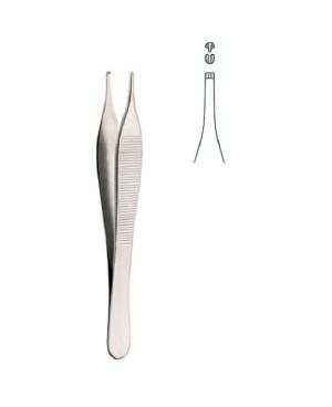Пинцет Эвальд-Хадсон 1/2 зубый, 120 мм