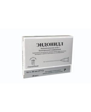 Эндонидл (20шт) с латеральной перфорацией эндодонтические иглы (0,4х38мм) ОМЕГА