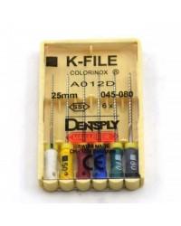 K-File Colorinox №30 25мм 6шт. боры ручные Maillef