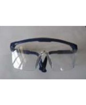 Очки защит, прозрач, незапотевающие с син. оправой FWD-736