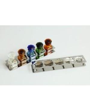 Подставка металл.для бутылочек (5 отверстий для бутылочек d32мм) В013