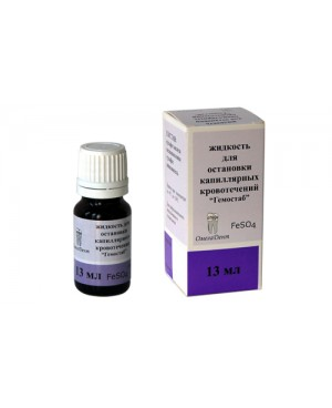 Гемостаб AlCl3 (13мл) жидкость д/остановки кап. кровотеч.