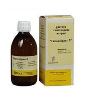 Гипохлоран-3 - р-р гипохлорита натрия(3,25%-300мл)